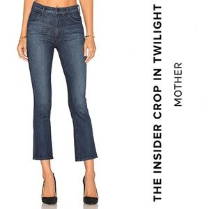 Mother Jeans The Insider Crop High Rise Twilight